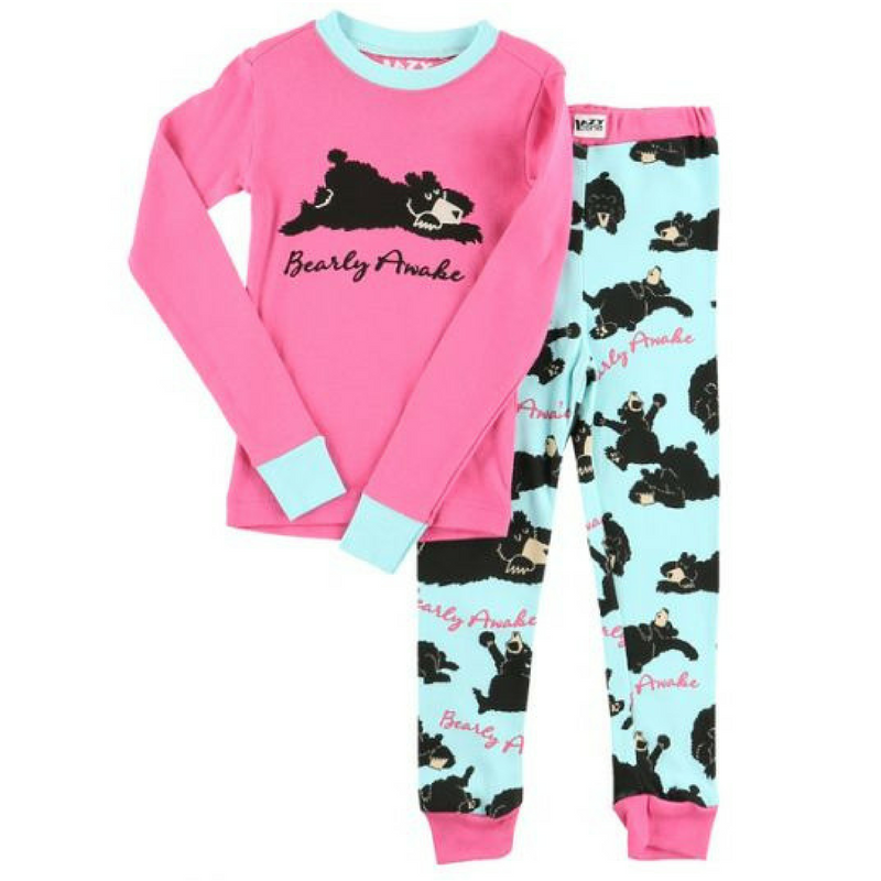 Bearly Awake Girl PJ Set